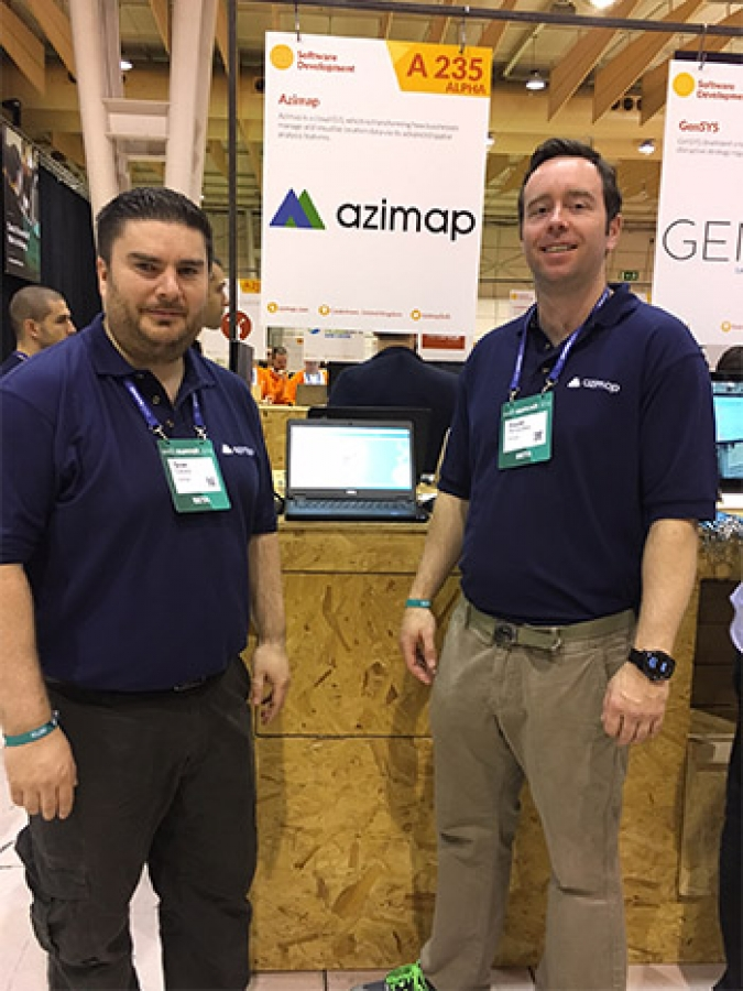 Azimap exhibit at Web Summit