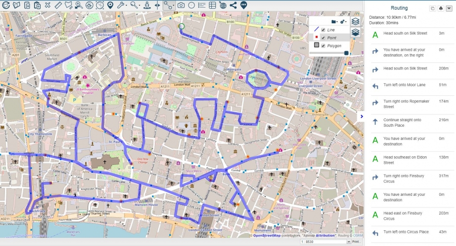 Azimap: Routing, Drive Time ysis And Snapping Available ... on specialized maps, natural maps, emotional maps, brown maps, no maps, several maps,