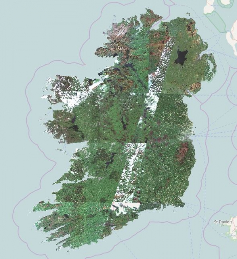 Sentinel-2a map of Ireland