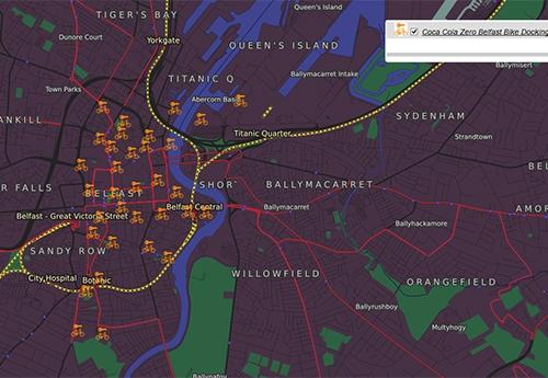 Belfast Bike Docking Stations