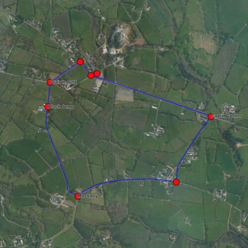 Cookstown 100 Race Route