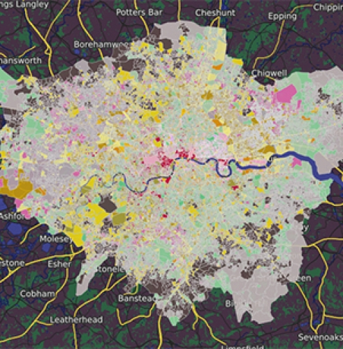 Dynamic web map of London Output Area Classification (LOAC)
