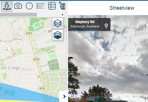 Using Azimap to view your data in street view mode