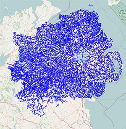 Interactive Web Map of Northern Ireland Rivers