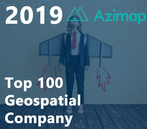 Azimap announced as Top 100 Geospatial Company for 2019